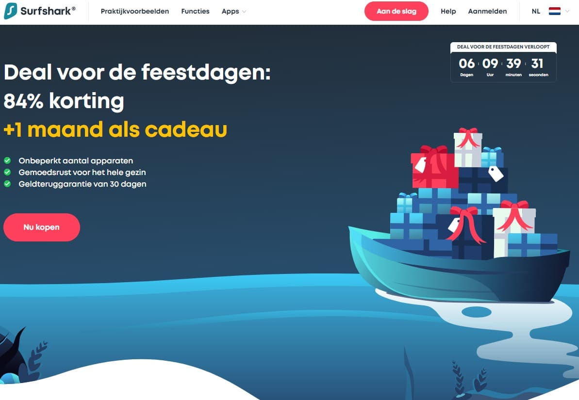 Surfshark Landing Page